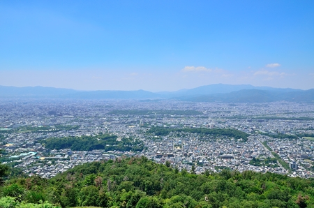 Kyoto daimonji mountain views Stock Photo