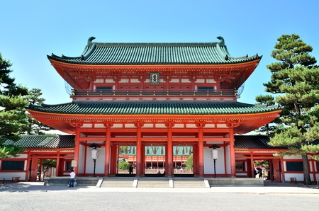 Heian Jingu Shrine gate