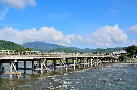 Kyoto togetsu-Kyo bridge 스톡 콘텐츠