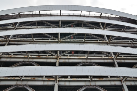 parking facilities: The appearance of the multi-storey car park Stock Photo