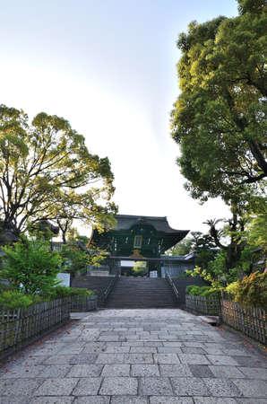 main gate: Otani book Temple main gate Stock Photo