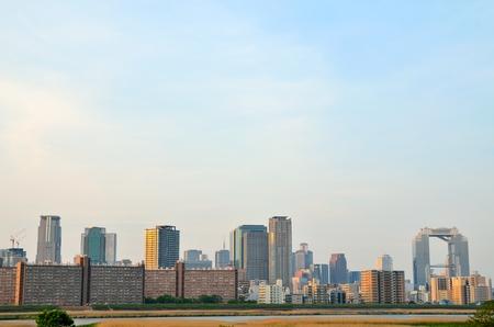 Osaka city landscape