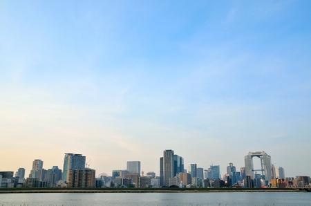 Osaka city landscape 스톡 콘텐츠