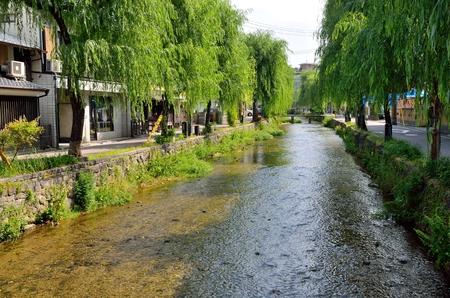 shirakawa: Kyoto Shirakawa Stock Photo