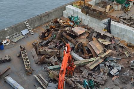 scrap: déchets de fer Banque d'images