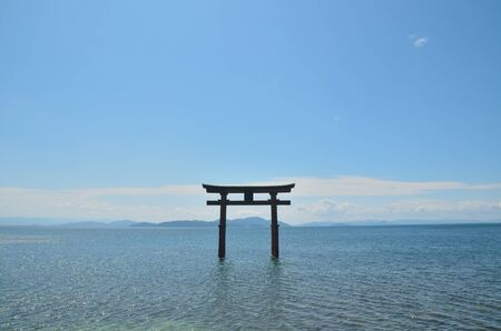 shinto: Lake Biwa Lake Torii