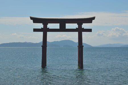 torii: Lake Biwa Lake Torii