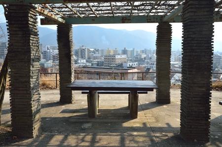 residential area: Kyoto-Yamashina-Ku Park Stock Photo