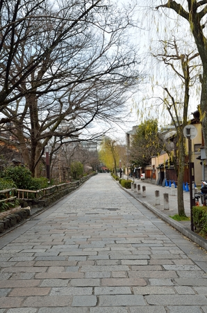 shirakawa: Shirakawa Minami-Dori in Kyoto