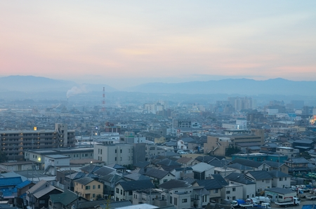 Early in the morning, Otsu-City urban landscape