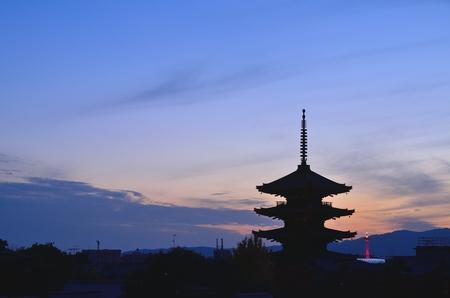 Kyotos Yasaka pagoda 写真素材
