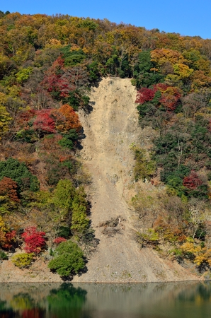 Cliff crumble Stok Fotoğraf