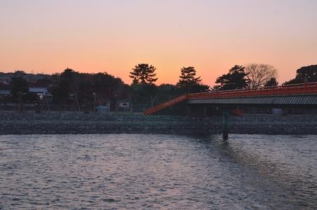 Cityscape of Uji in Kyoto 写真素材