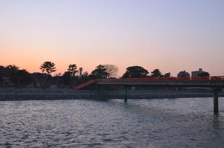 Cityscape of Uji in Kyoto Stok Fotoğraf