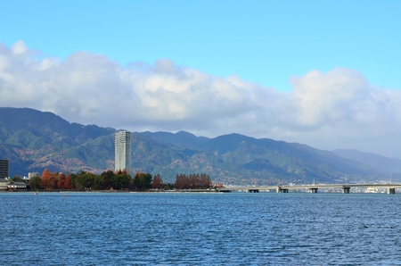 Lake Biwa in Shiga Prefecture