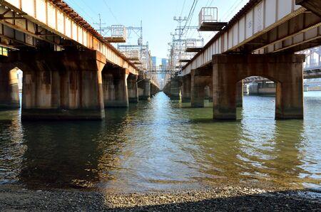 Osaka Yodogawa Railway Bridge 写真素材