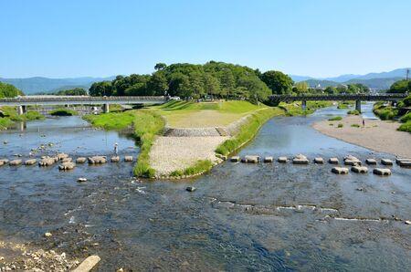 Kamogawa Delta in Kyoto