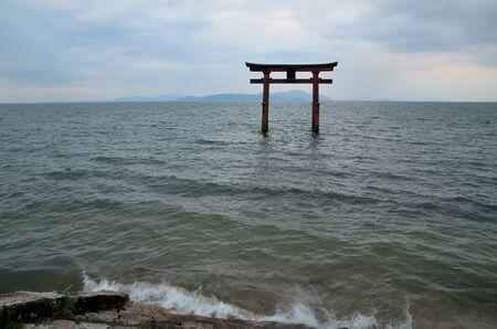 Lake Biwa in Japan Stock Photo