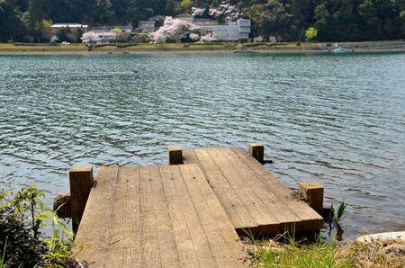 Seta River, Shiga Prefecture in Japan 스톡 콘텐츠