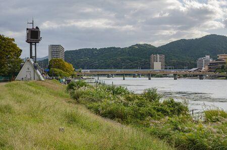 Seta River in Shiga Prefecture and Kara Bridge in Seta