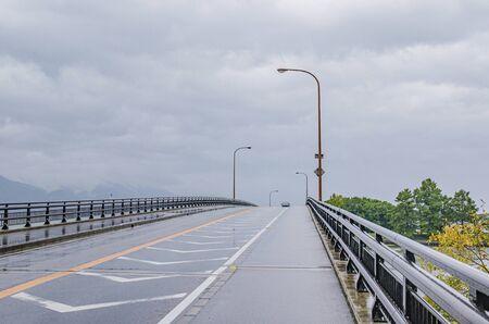 Road on a rainy day