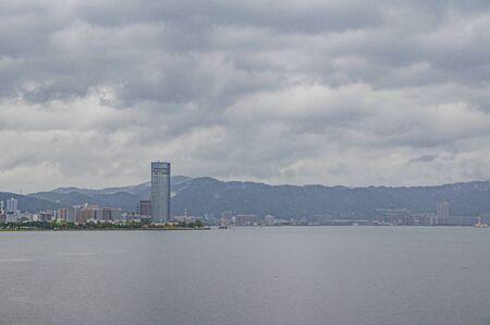 Lake Biwa in Shiga 版權商用圖片
