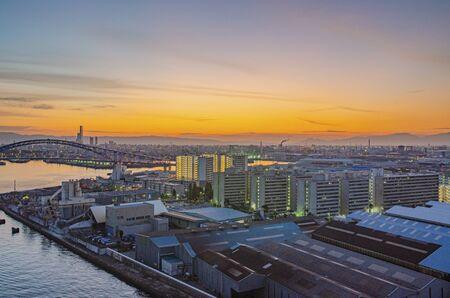Urban landscape of Osaka 版權商用圖片