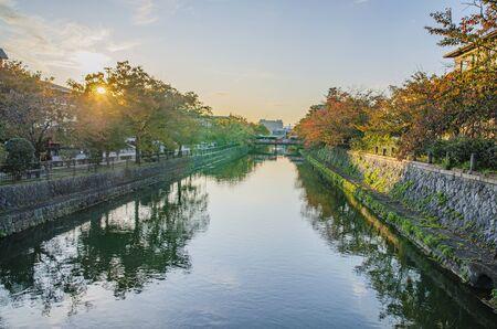 Lake Biwa Canal in Kyoto 스톡 콘텐츠 - 145136271