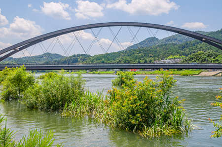 Seta River and Seta River Bridge Reiwa Shiga Prefecture