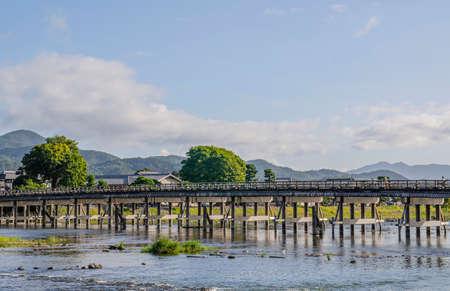 Arashiyama Tossan Bridge in Kyoto