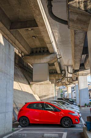 Parking under the overpass