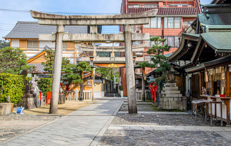 Ebisu Shrine in Kyoto 에디토리얼