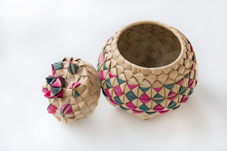 The basket weave is the one famous handcraft from Thailand