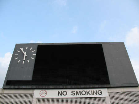 Giganti segno pensione o pensione cliente trova presso il National Stadium
