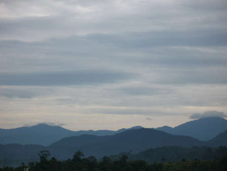 Mountains surrounded by clouds found in Malaysia