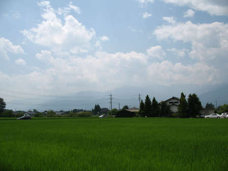 A simple view of a sleepy Japanese countryside Stock Photo