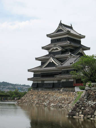 Matsumoto Castle, also known as Fukashi Castle found in Japan, Nagano Prefecture.  Editorial