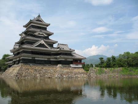 Matsumoto Castle found in Nagano Prefecture of Japan.