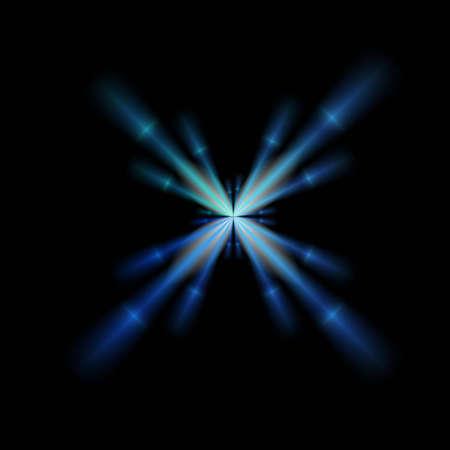 A single blue brilliant star, good for design and background Stock Photo