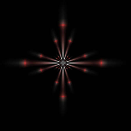 A single red brilliant star, good for design and background