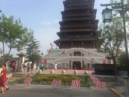 ancient tower at Hancheng Lake