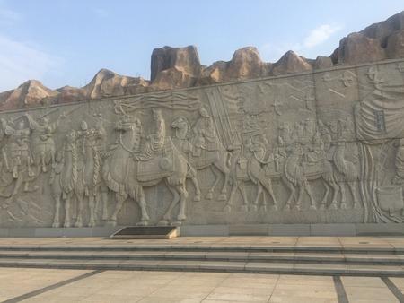 wall carving at Hancheng lake