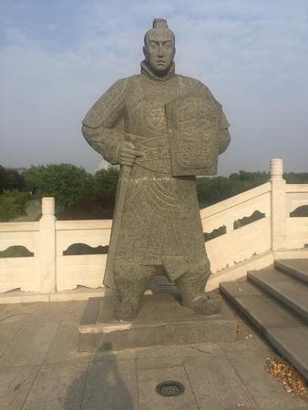 sculpture at Xian Lake Stock Photo