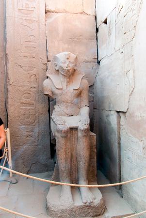 cheops: archaeological ruins in Egypt, Cairo, Abu Simbel, Karnak, Luxor or Cairo streets Stock Photo