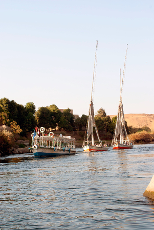 cheops: archaeological ruins in Egypt, Cairo, Abu Simbel, Karnak, Luxor or Cairo streets Editorial