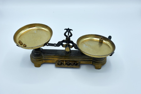 weigh machine: Old precision balance of the nineteenth century