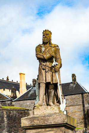 robert bruce: Views of Stirling and monuments to Robert the Bruce and William Wallace, Scotland