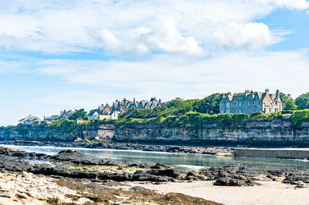 Diferents views of the St. Andrews beach in his bay, next the famous golf field. St. Andrews, Scotland, UK