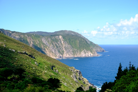 Landscapes of the coast of death near the village of San Andres de Teixido in Galicia, Spain