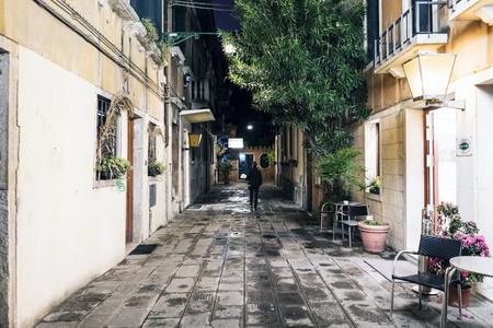 procuratie: Venice, Veneto  Italy- May 20, 2017: Alley of cobbles called de le Procuratie. Near the Campo San Geremia Editorial